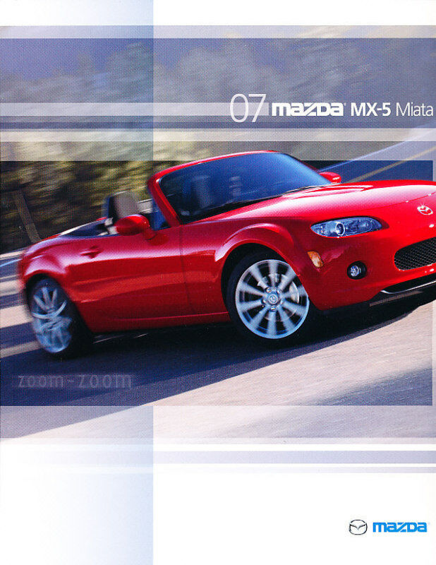 2007 mazda mx 5 miata mx5 28 page original car sales brochure book ebay. Black Bedroom Furniture Sets. Home Design Ideas