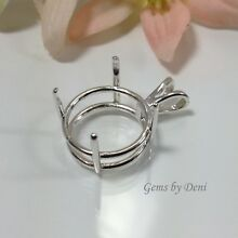 Sterling Silver Round Pre-Notched Pendant Setting (4mm to 25mm).