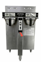 Fetco CBS 52H-15 Dual 1.5 Gallon Thermal Satellite Twin Coffee Brewer w/faucet