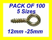 SCREW IN PICTURE FRAME EYES BRASSED 12mm- 25mm PK.100