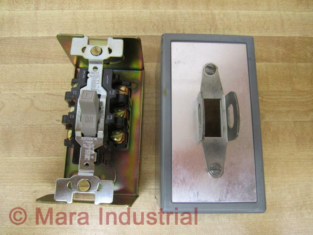 Square d 2510 kg 2 manual motor starting switch used ebay for Square d motor switch