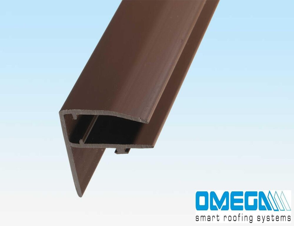 pvc f section edge bar for polycarbonate sheet 10mm 16mm 25mm white brown ebay. Black Bedroom Furniture Sets. Home Design Ideas