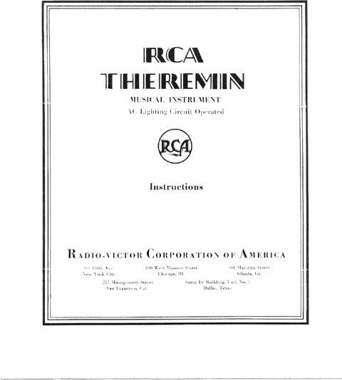 rca theremin instruction manual reprint synthesizer ebay. Black Bedroom Furniture Sets. Home Design Ideas