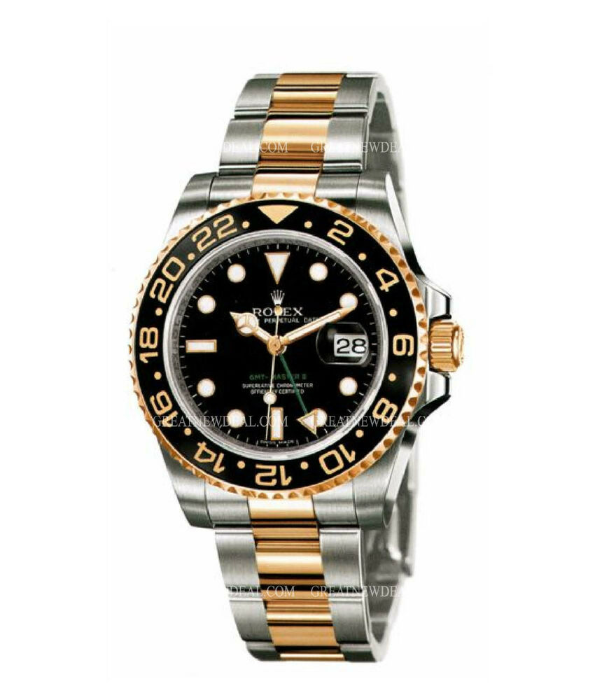 Rolex gmt master ii oyster perpetual 116713ln ebay for Rolex gmt master