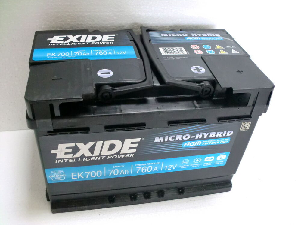 exide agm 700 autobatterie 12v 70ah 760 a en pkw ebay. Black Bedroom Furniture Sets. Home Design Ideas