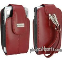 Red Blackberry Leather Pouch Case Bold 9650 9700 9780