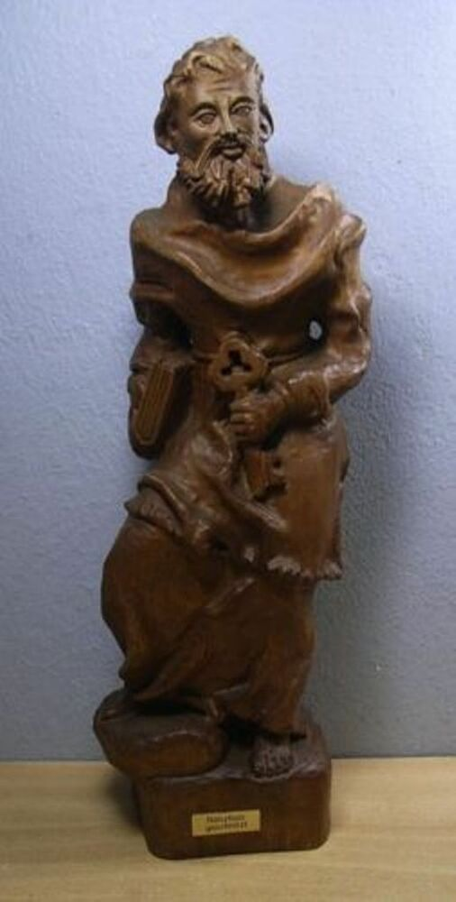 Vintage german wood carved petrus w ebay