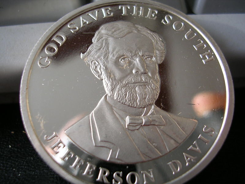 50 Silver Community Dollar Jefferson Davis 1oz Silver Ebay