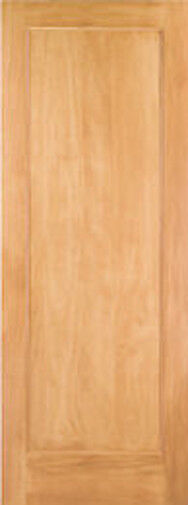 1 panel flat mission shaker stain grade pine solid core for Flat solid wood door