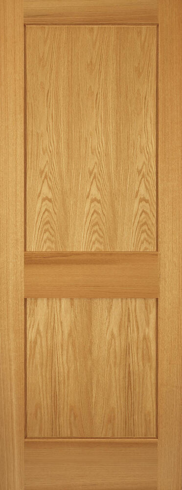 2 panel red oak mission shaker flat panel solid core interior wood doors door ebay for Solid wood panel interior doors