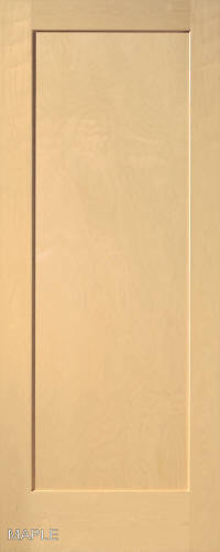 Maple 1 Panel Flat Mission Shaker Stain Grade Solid Core Interior Wood Doors Ebay