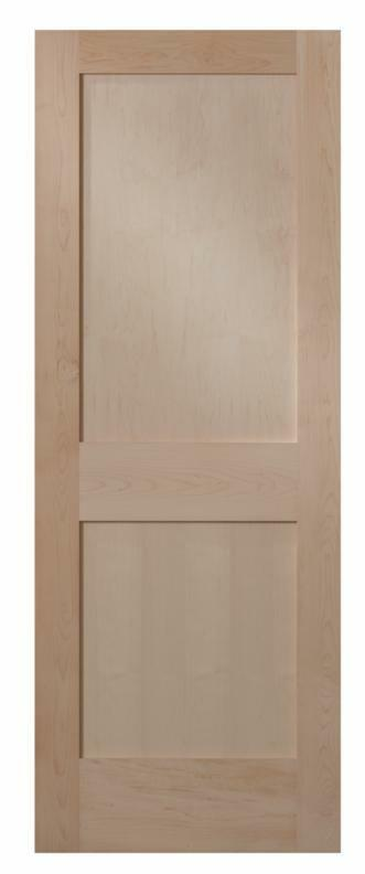 Maple 2 Panel Flat Mission Shaker Stain Grade Solid Core Interior Wood Doors Ebay