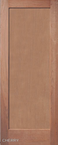 1 panel flat mission shaker cherry stain grade solid core interior wood doors ebay for Solid wood panel interior doors