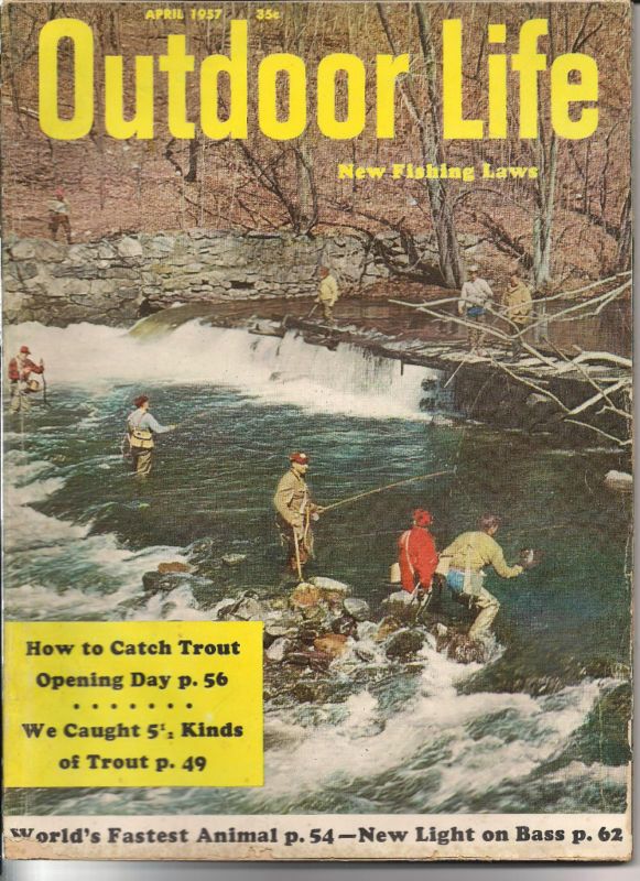 Outdoor life hunting and fishing magazine april 1957 for Hunting and fishing magazine