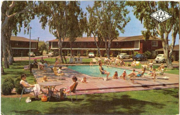 1950s chrome town house motor hotel fresno california ebay for Town house motor inn