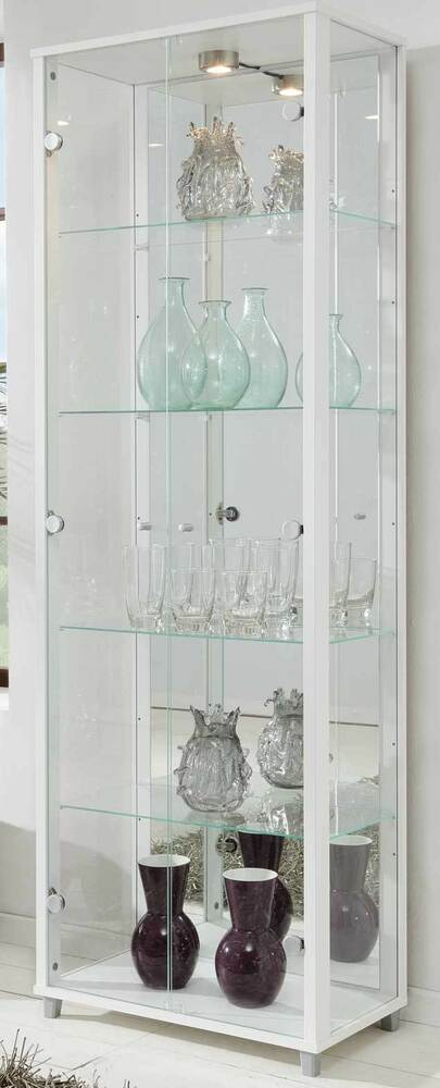 glasvitrine sammlervitrine vitrine mit spiegel beleuchtet. Black Bedroom Furniture Sets. Home Design Ideas