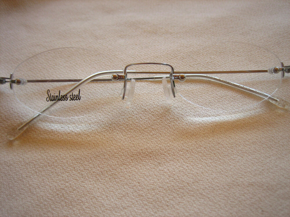 Rimless Glasses Lightweight : OVAL Very Lightweight READING GLASSES ( RIMLESS ) Almost ...