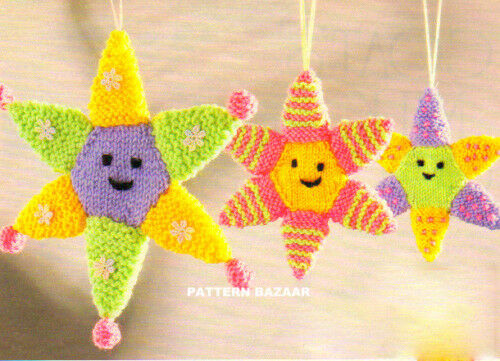 Colourful Star Baby Mobile Cot Toy Knitting Pattern Ebay