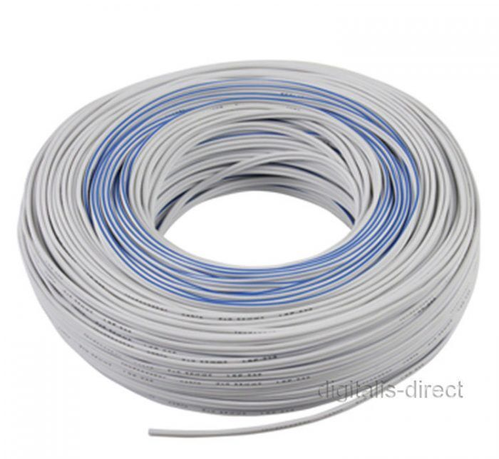 White Speaker Wire : M white speaker cable twin wire loudspeaker car hook up