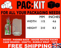 """25 x Clear Cello Party Favour Gift Bags 4.6 x 8.3"""" base"""