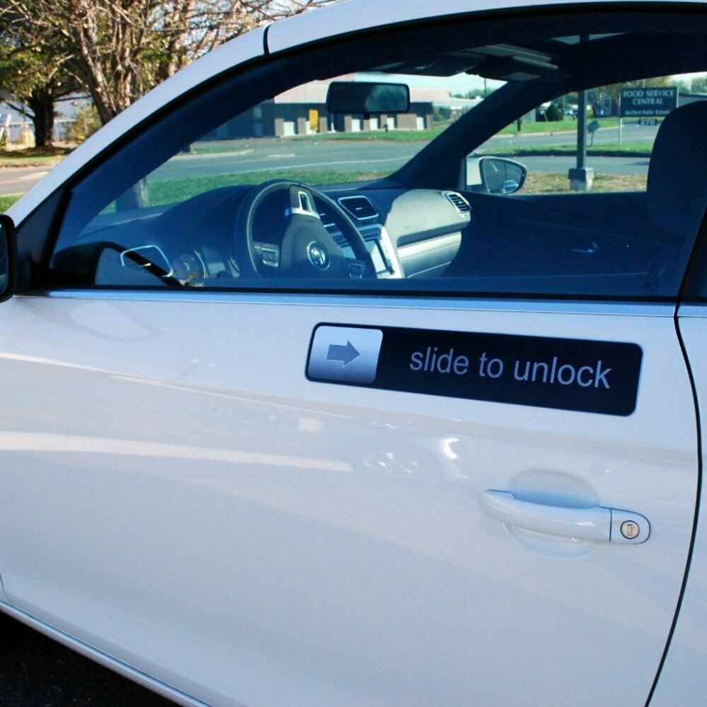 slide to unlock iphone ipod car door truck fridge magnet amazing ebay. Black Bedroom Furniture Sets. Home Design Ideas