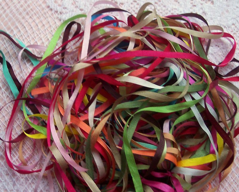 Embroidery ribbon silk mm wide yd assortm ebay