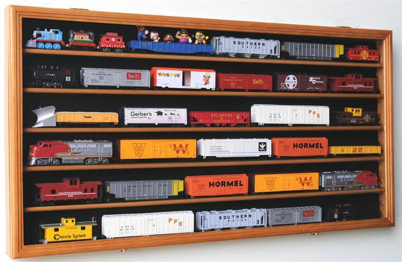 Ho Train Display Case Cabinet For Ho Scale Model Train Set