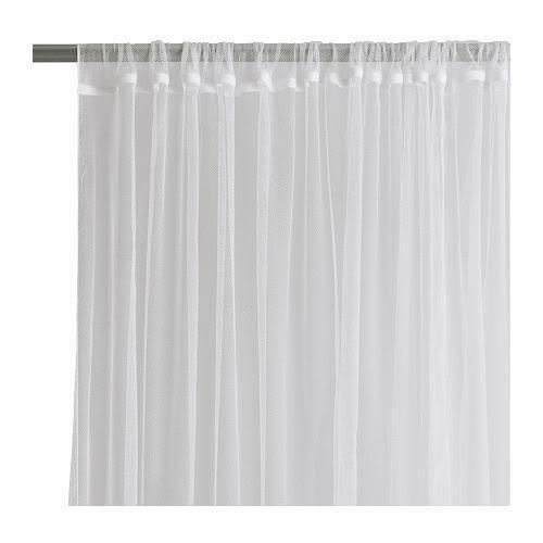 New ikea sheer white lill curtains 4sets 8panels ebay for White curtains ikea