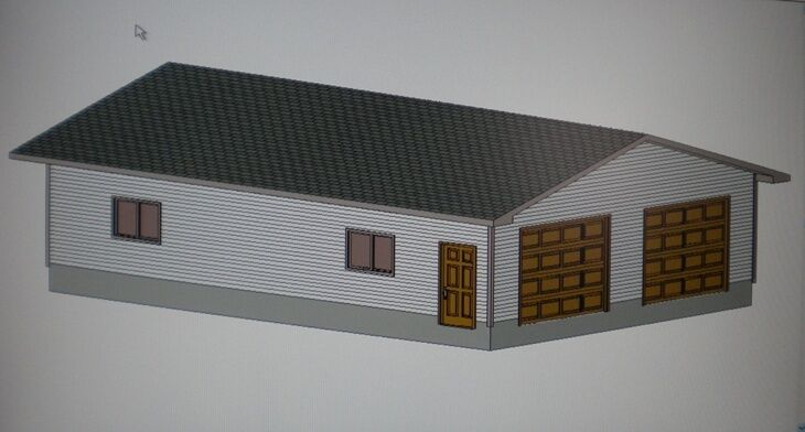 28 39 x 40 39 garage shop plans materials list blueprints ebay for Material list for garage