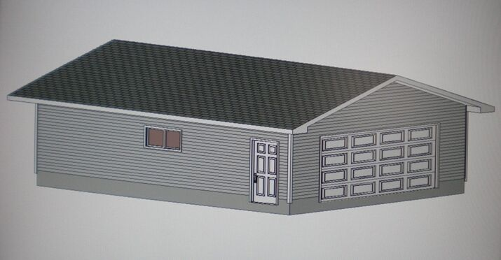24 39 x 30 39 garage shop plans materials list blueprints ebay for Material list for garage