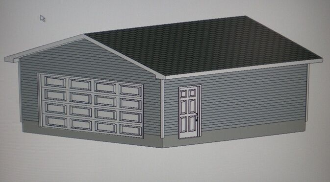 22 39 x 22 39 garage shop plans materials list blueprints ebay for Material list for garage
