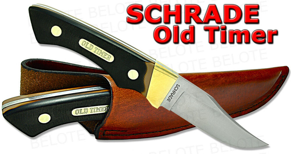 Schrade Old Timer Hunter Delrin W Leather Sheath 14ot Ebay
