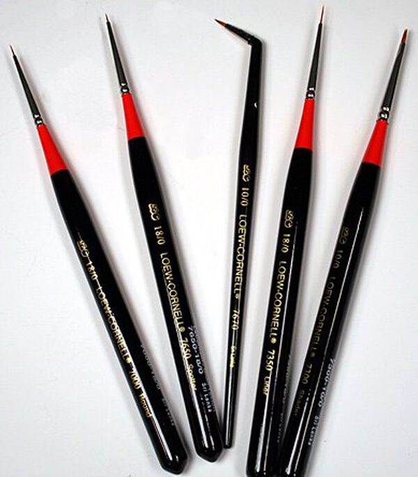 loew cornell miniature micro detail paint brushes set ebay