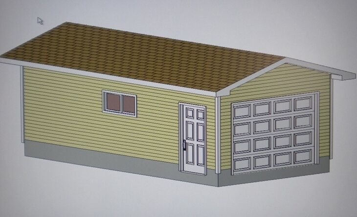 12 39 x 24 39 garage shop plans materials list blueprints ebay for Material list for garage