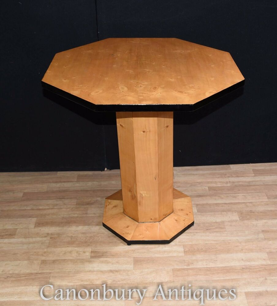 Art deco side table octagonal cocktail tables ebay for Table de nuit art deco