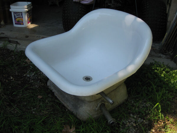 Vintage Cast Iron Sitz Bath Tub Ebay