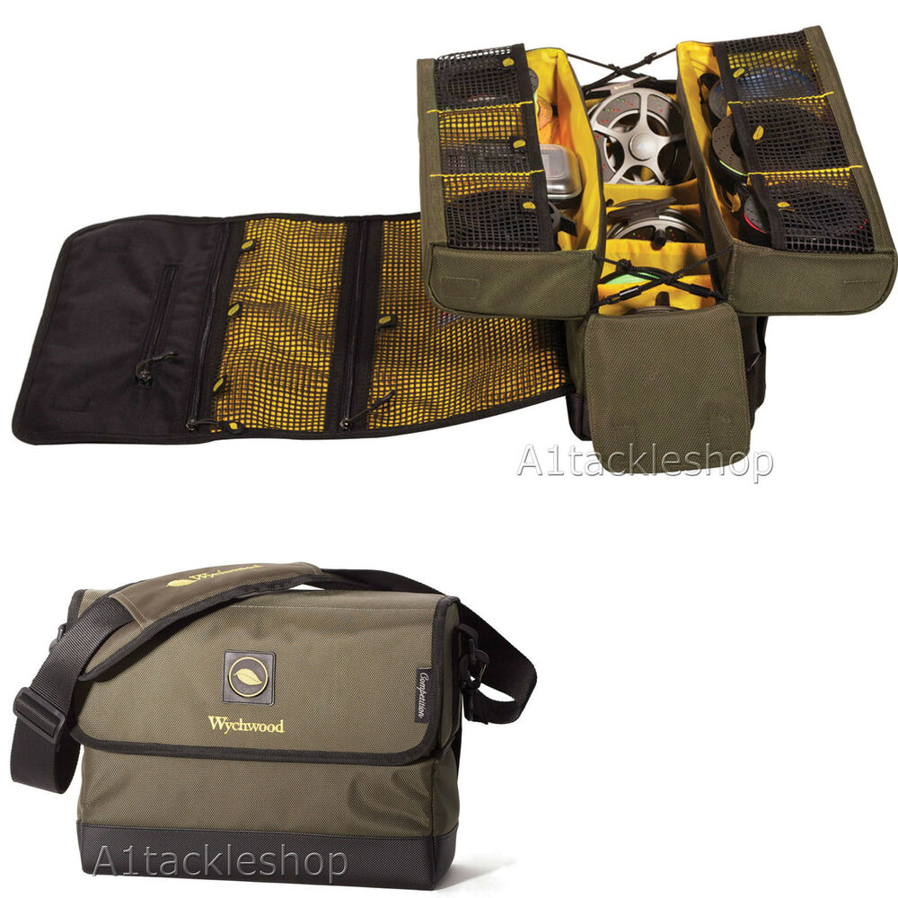 Wychwood game competition trout and salmon fly fishing for Fishing reel bag
