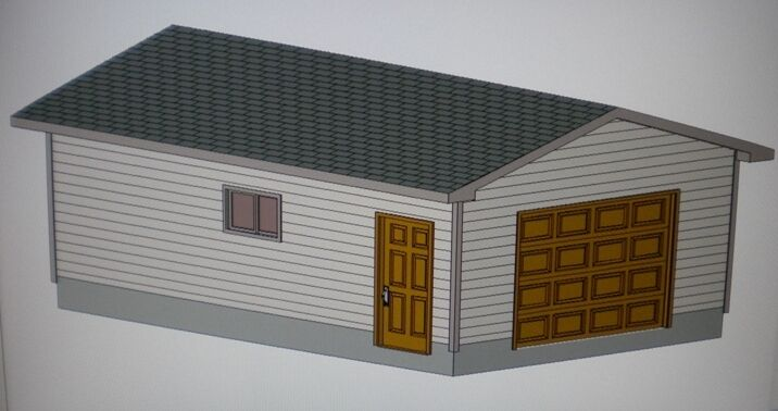 Garage With Storage Free Materials List: 16' X 24' GARAGE SHOP PLANS MATERIALS LIST & BLUEPRINTS