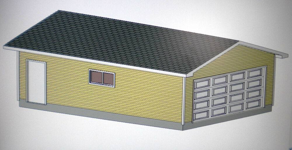 20 39 X 28 39 Garage Shop Plans Materials List Blueprints Ebay
