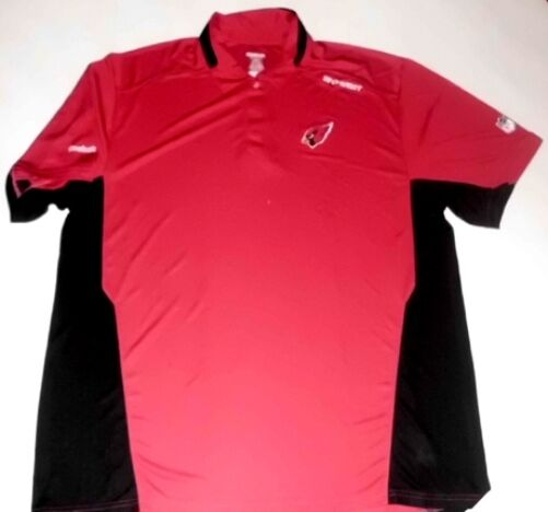 Arizona Cardinals Sideline Stay Dry Polo Shirt Small Red