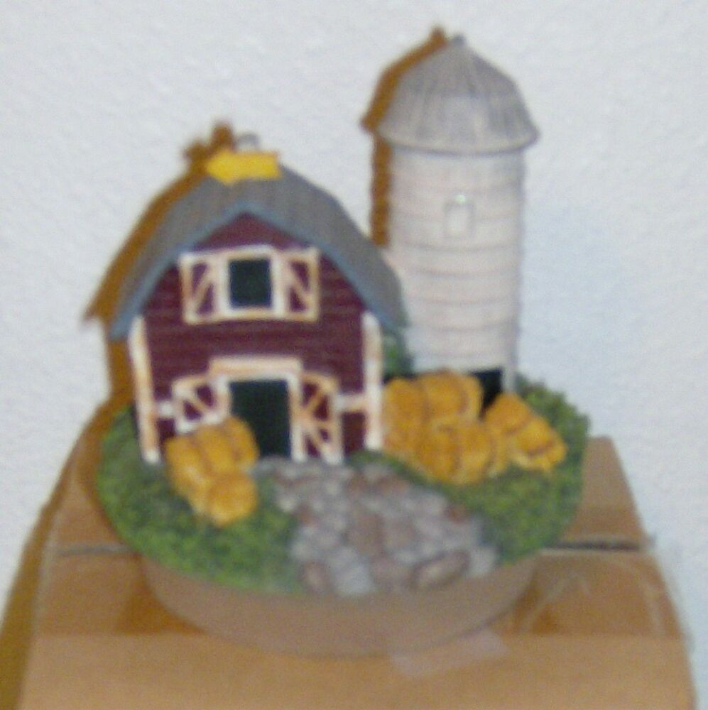 Homco Home Interiors Candle Jar Topper Farm Silo NEW