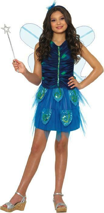Enchanted Butterfly Fairy Pixie Blue Child Costume | eBay