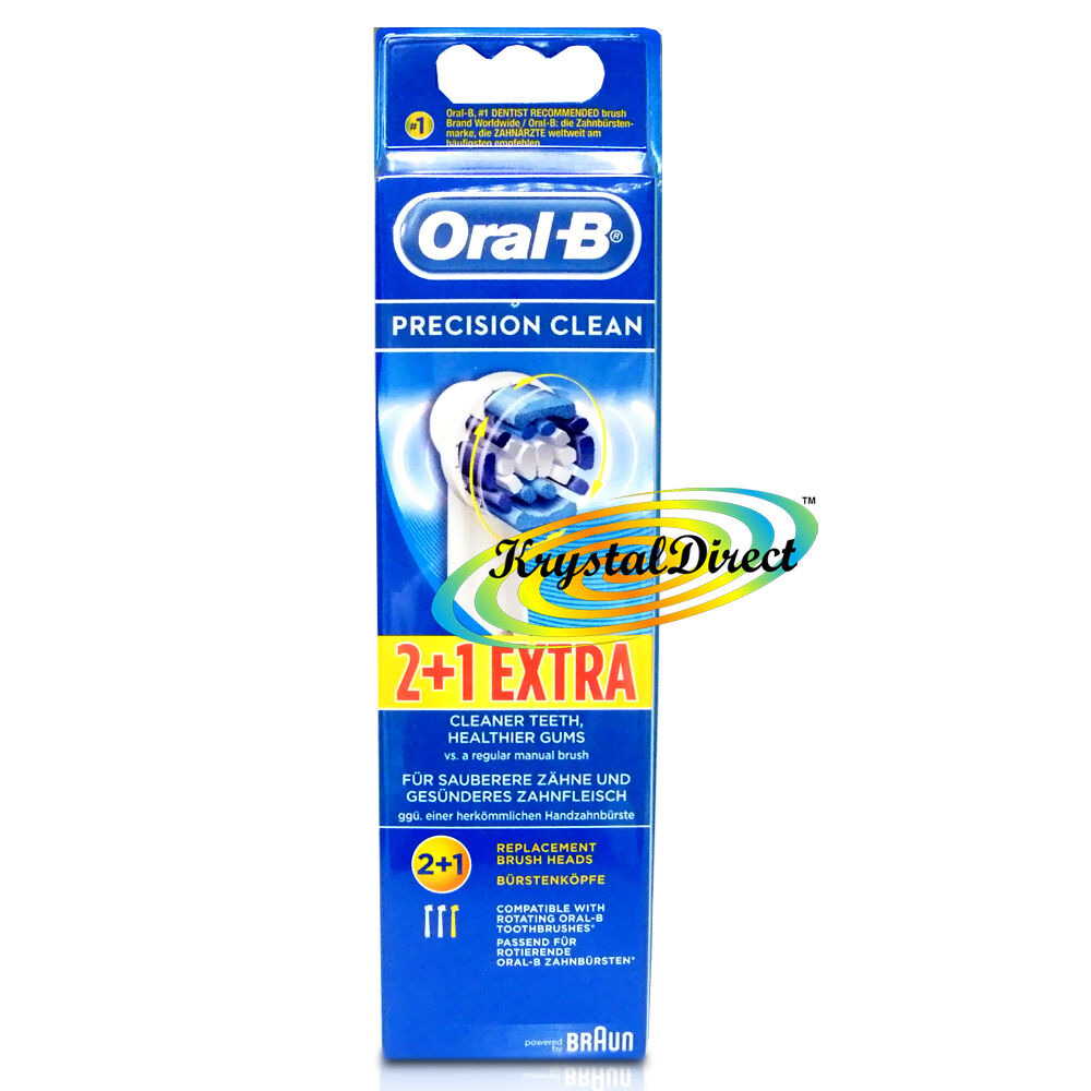 oral b precision clean 3 toothbrush heads triumph vitality advancepower ebay. Black Bedroom Furniture Sets. Home Design Ideas
