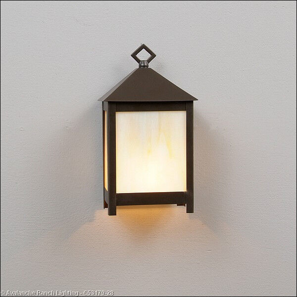 Mission Style Wall Sconces Lighting : Small Mission Style Wall Sconce 1-Light 60 Watt in Dark Bronze C53179 eBay