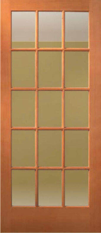 1 lite 10 lite or 15 lite hemlock solid exterior french for Solid french doors exterior