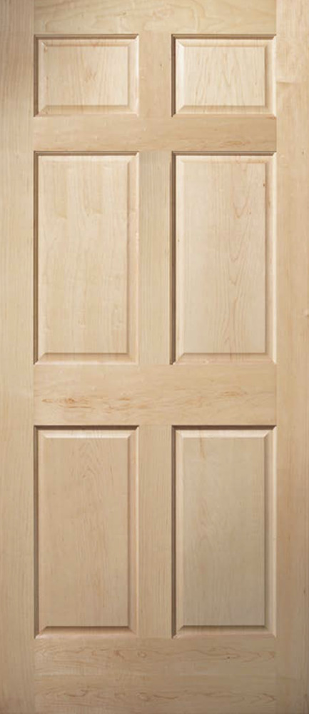 6 panel clear maple traditional raised panel solid core interior wood doors ebay 6 panel hardwood interior doors