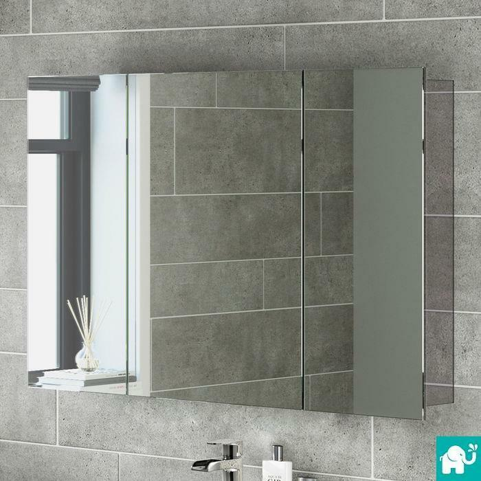 Bathroom Mirror Storage Unit Wall Mirrored Cabinet Mc111 Ebay