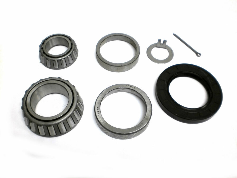 Spindle Axle With Bearing : Complete trailer bearing kit for axles spindle