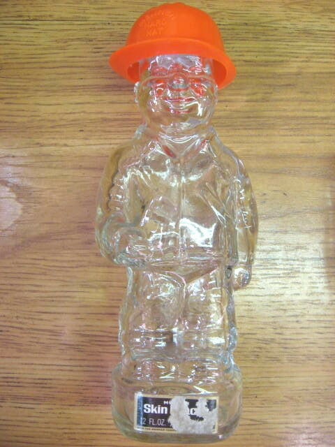 Mennen Man With Hardhat Glass Aftershave Bottle Ebay