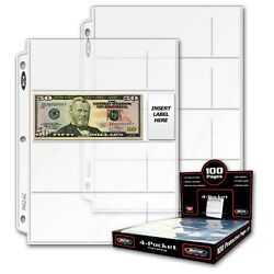 Kyпить 50 sheets BCW 4 Pocket Currency Pages for Binder Albums на еВаy.соm